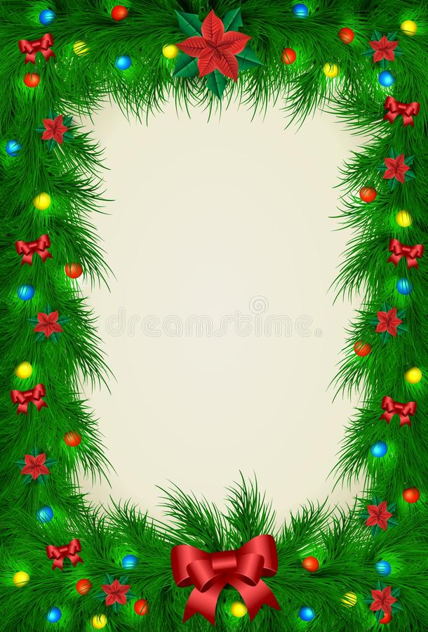圣诞节图片的传染媒介框架 库存例证