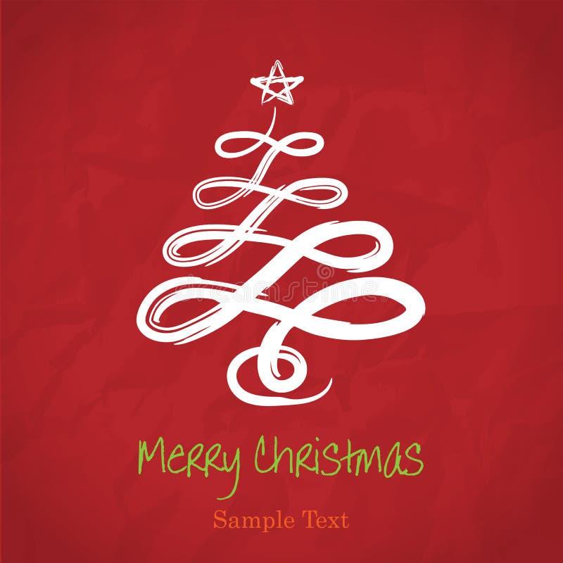 圣诞节图画现有量结构树向量 向量例证