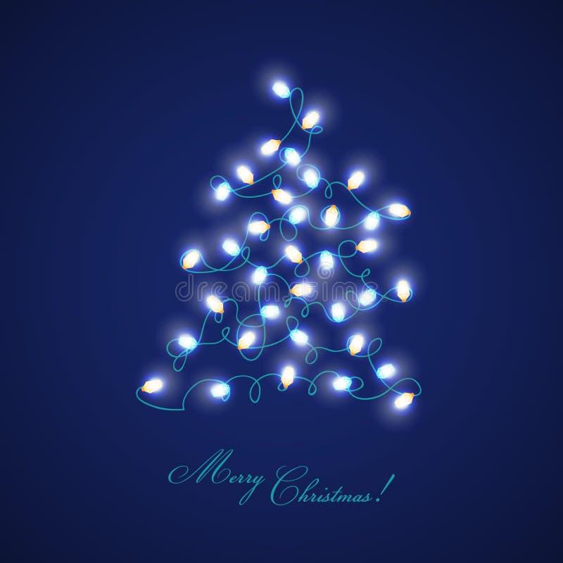圣诞节图象点燃更多我的投资组合结构树 向量例证