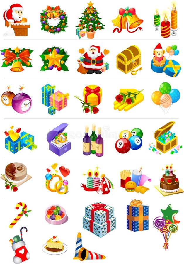圣诞节图象装箱 库存图片