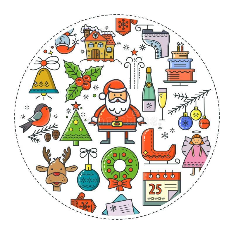 圣诞节圆的横幅 皇族释放例证
