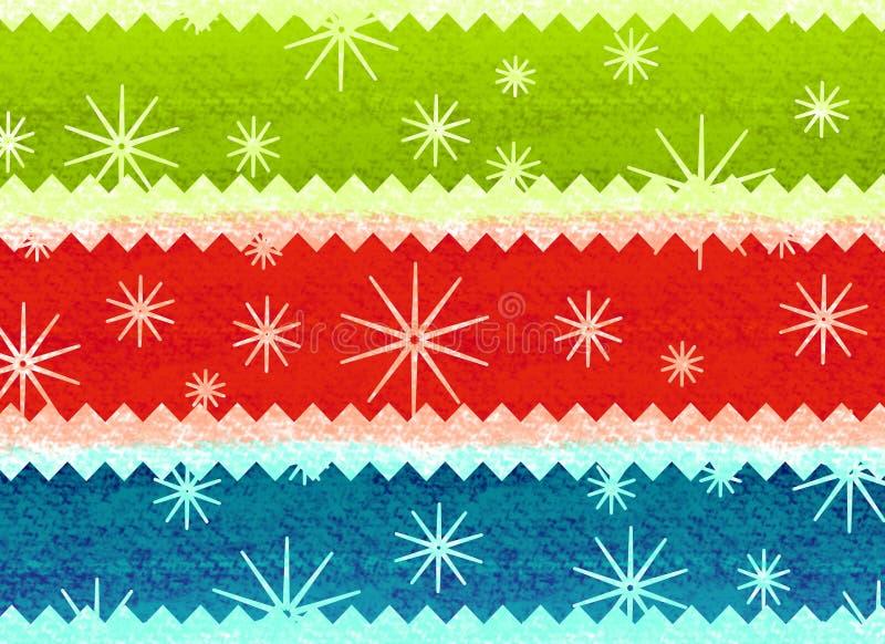 圣诞节土气模式的打印 库存例证