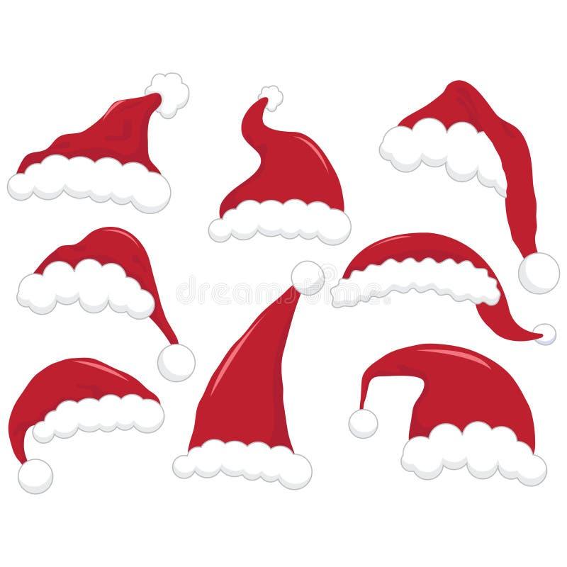 圣诞节圣诞老人帽子 库存例证