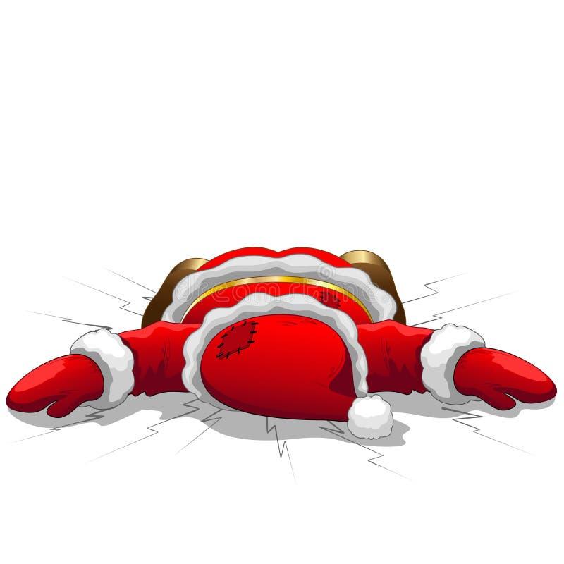 圣诞节圣诞老人是死的 库存例证