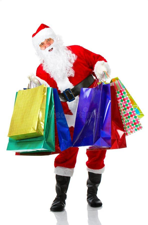 圣诞节圣诞老人购物 库存照片
