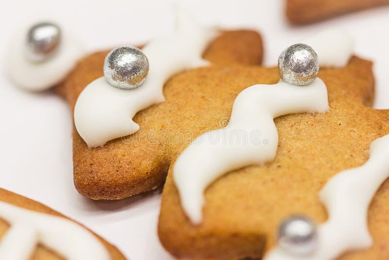 圣诞节圣诞节的姜饼曲奇饼 库存照片