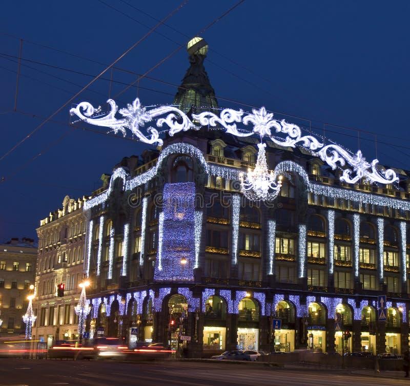 圣诞节在圣彼得堡 库存照片