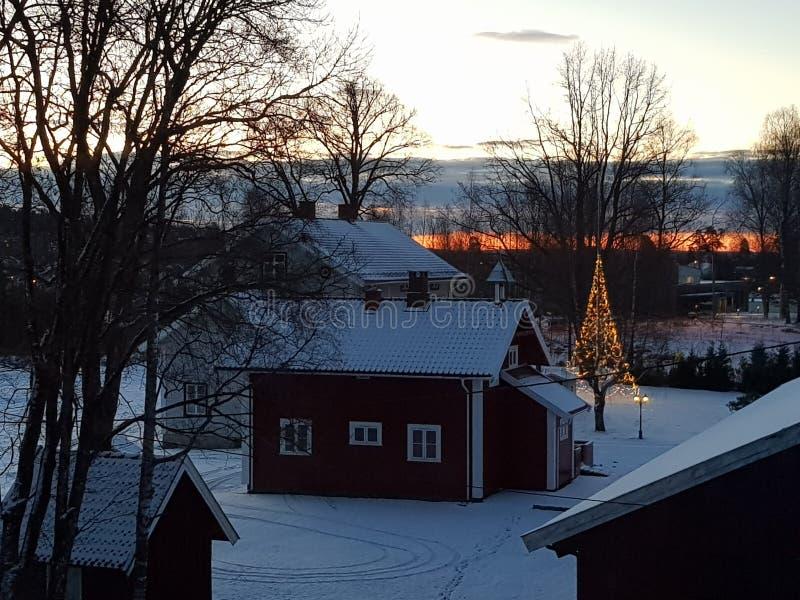圣诞节在挪威 免版税库存图片