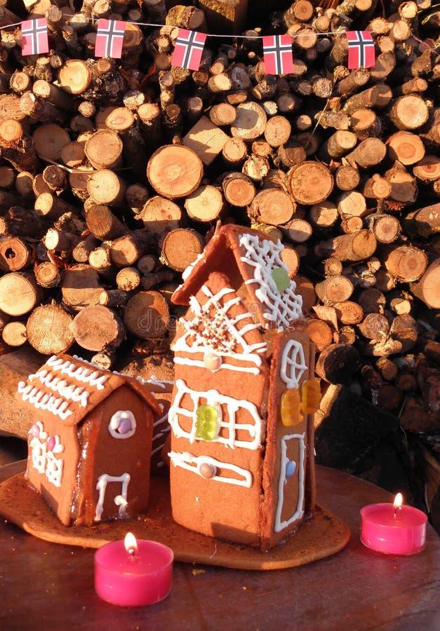 圣诞节在挪威 免版税库存照片