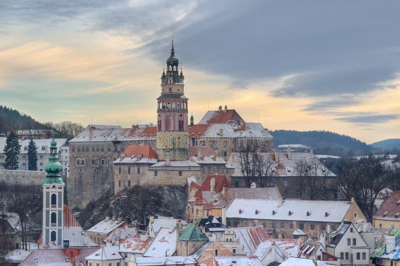 圣诞节在捷克克鲁姆洛夫 库存图片