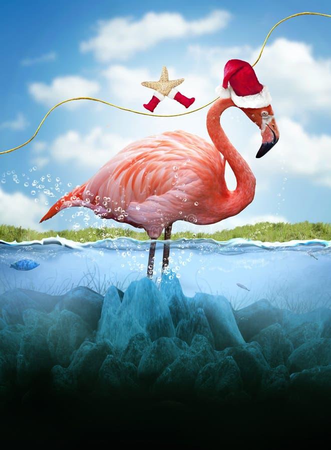 圣诞节在热带 向量例证