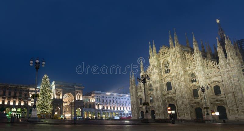 圣诞节在米兰 免版税库存图片