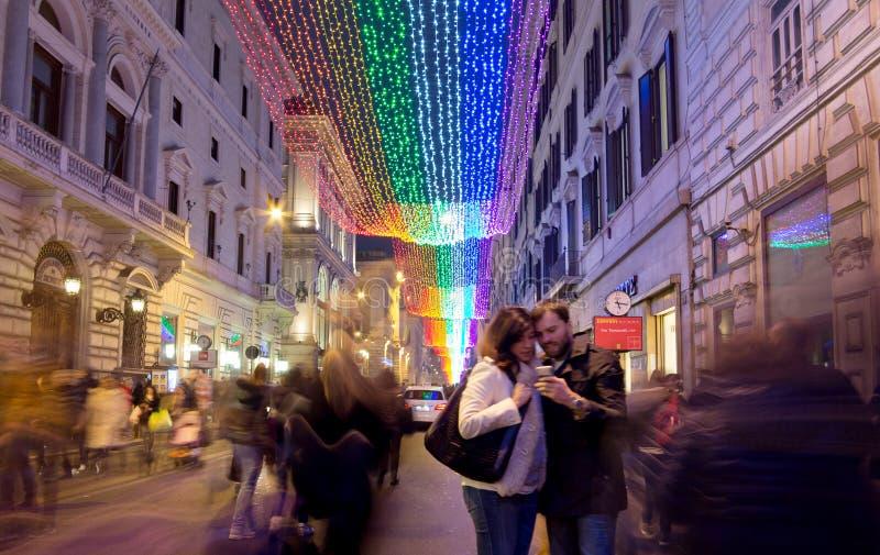 圣诞节在罗马 免版税库存图片
