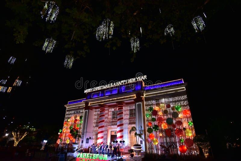 圣诞节在达沃市,菲律宾 库存照片