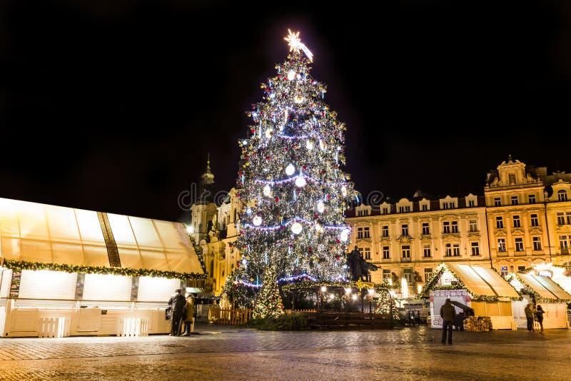 圣诞节在Oldtown广场 布拉格 库存照片