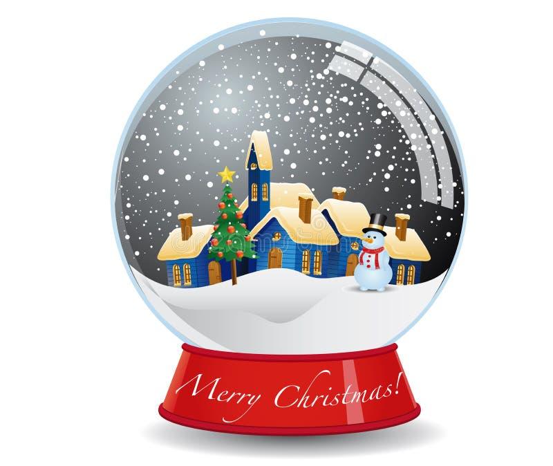 圣诞节地球雪 皇族释放例证
