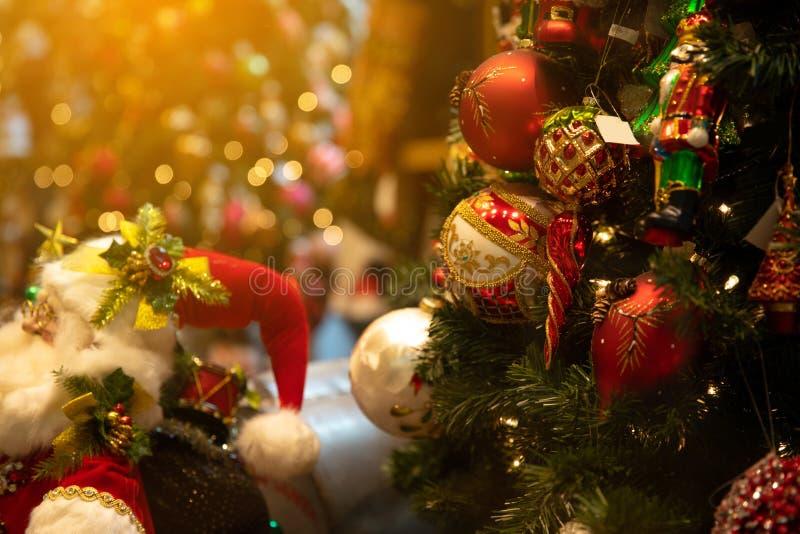 圣诞节场面在模糊的背景中 库存照片