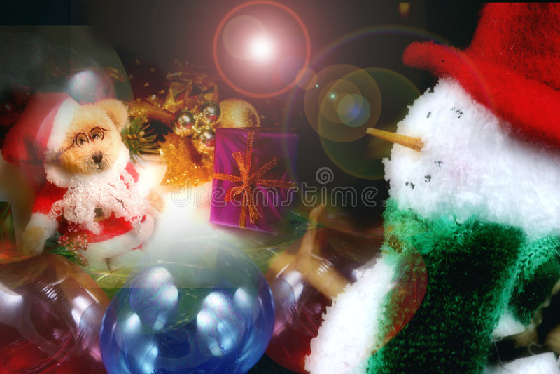 圣诞节场面 图库摄影