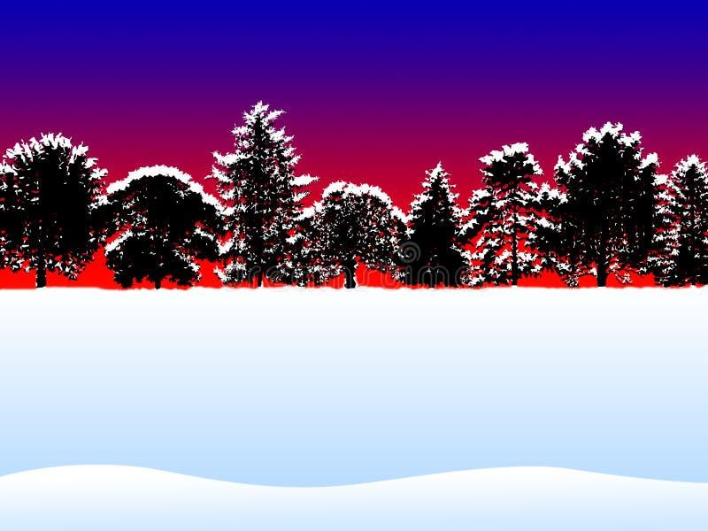 圣诞节场面 向量例证