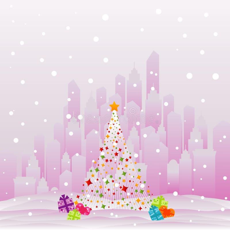 圣诞节城市 皇族释放例证