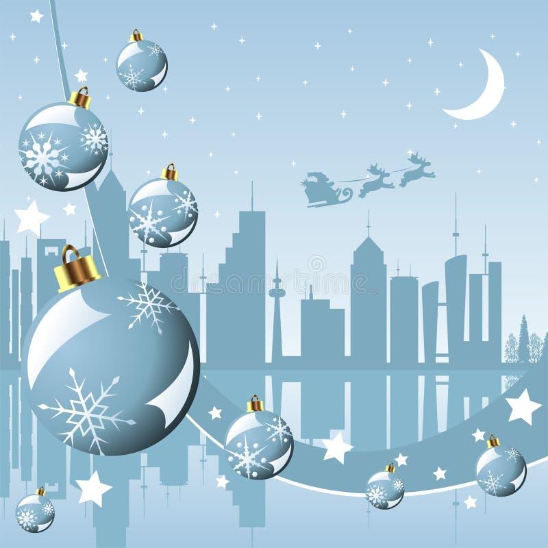 圣诞节城市 库存例证