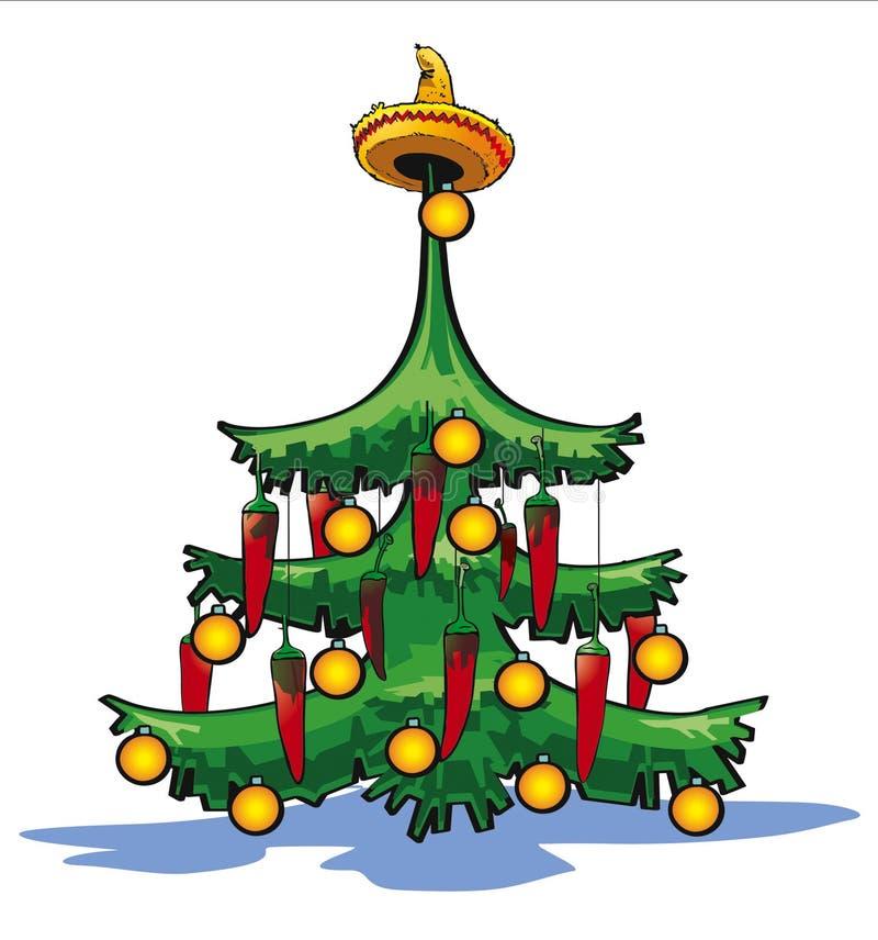 圣诞节墨西哥结构树 向量例证