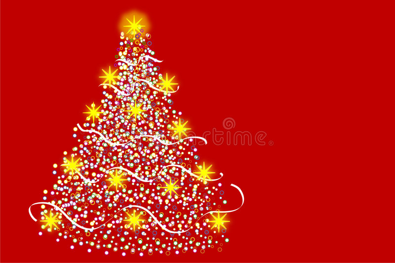 圣诞节多彩多姿的结构树 皇族释放例证