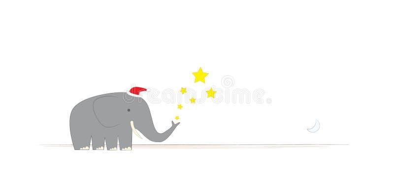圣诞节大象s先生 向量例证