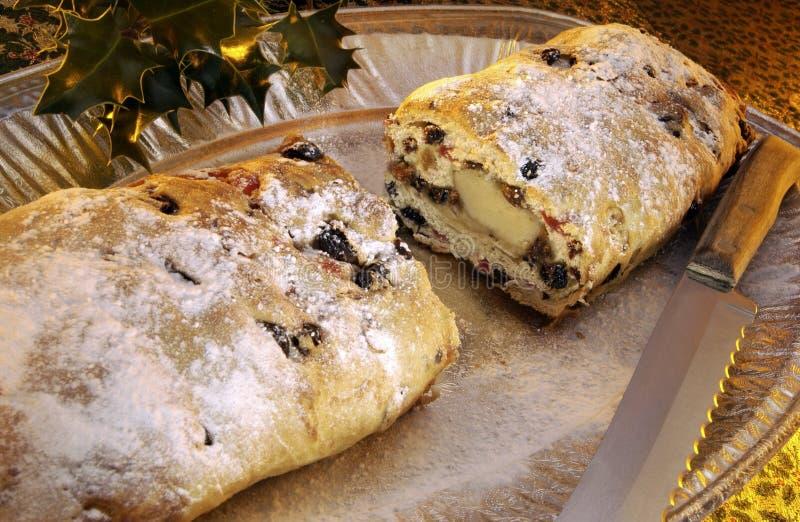 圣诞节大面包stollen 免版税库存图片