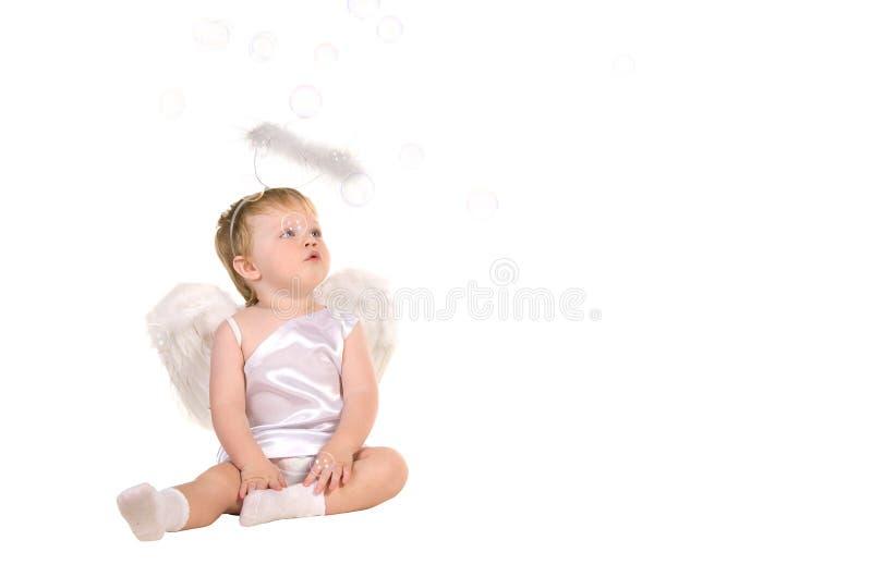 圣诞节天使,小的子项 免版税库存照片
