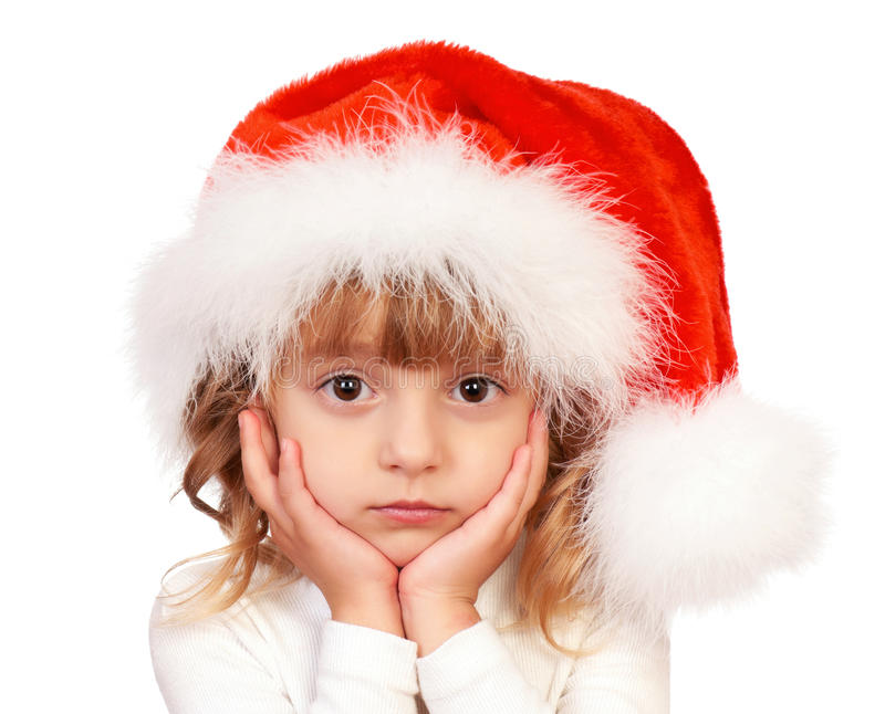 圣诞节女孩一点 免版税库存图片