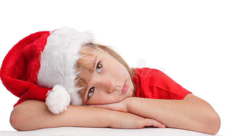 圣诞节女孩帽子一点 图库摄影