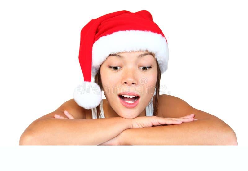 圣诞节女孩符号 免版税库存照片