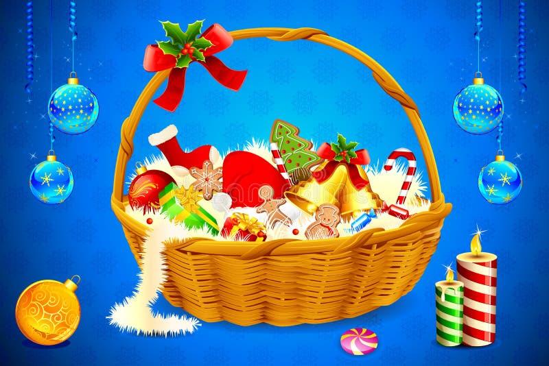 圣诞节好吃的东西 皇族释放例证