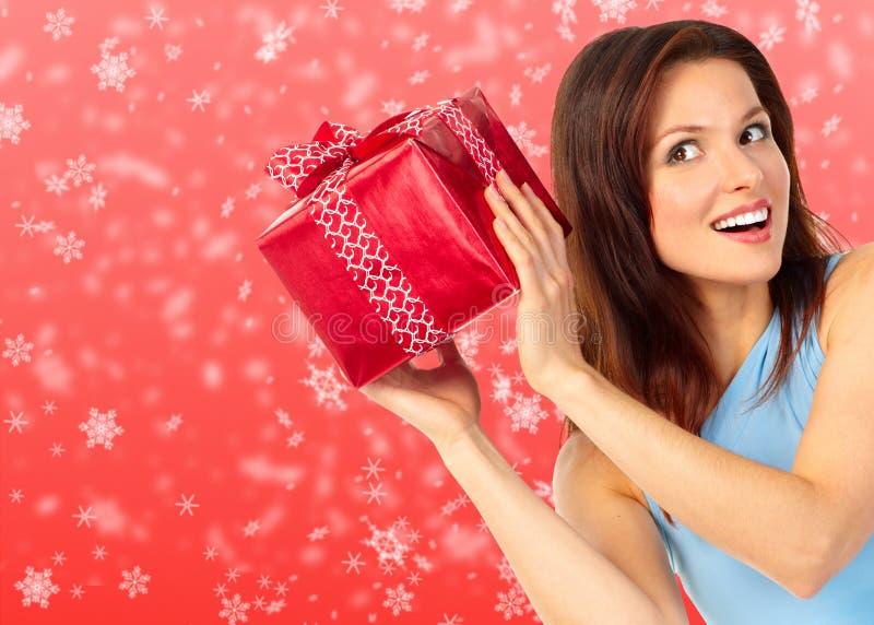 圣诞节妇女 库存图片