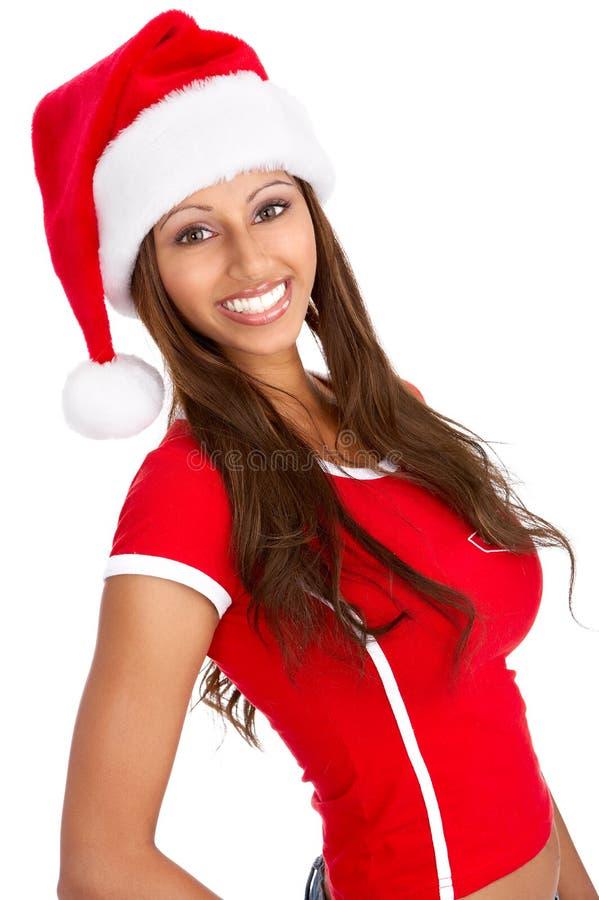 圣诞节妇女 免版税库存照片