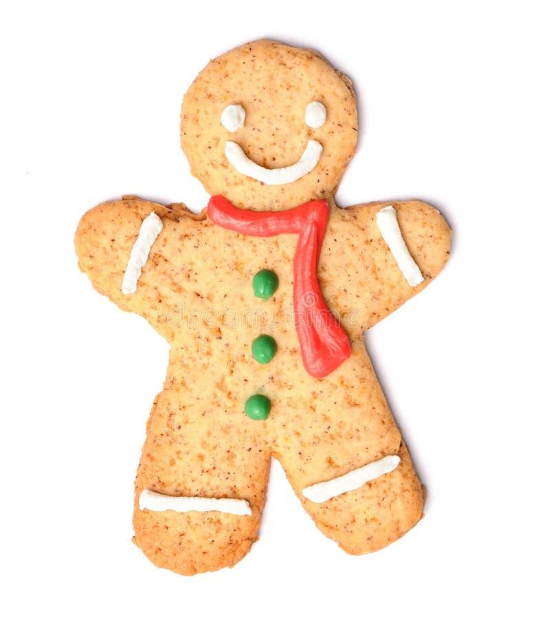 圣诞节姜饼人曲奇饼 免版税库存照片