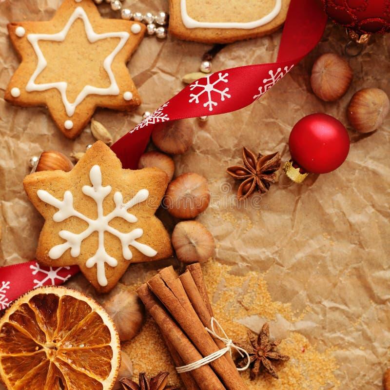 圣诞节姜饼烘烤 免版税图库摄影