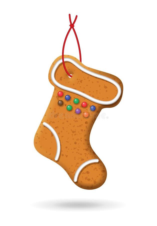 圣诞节姜饼象 向量例证