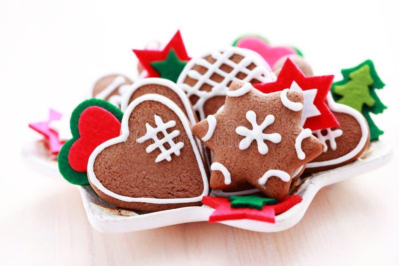 圣诞节姜饼 免版税库存图片