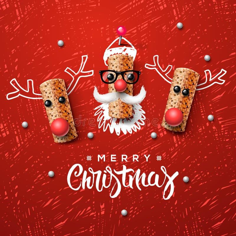 Download 圣诞节字符、圣诞老人和驯鹿 向量例证. 插画 包括有 快活, 问候, 敌意, 节假日, 红色, 看板卡, 黄柏 - 62525717