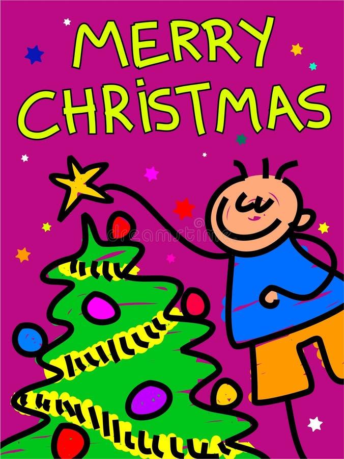 圣诞节孩子 向量例证