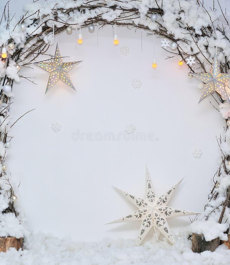 圣诞节室内部  库存图片