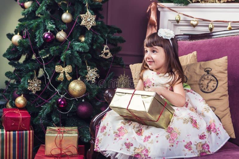 圣诞节家庭环境 免版税库存照片