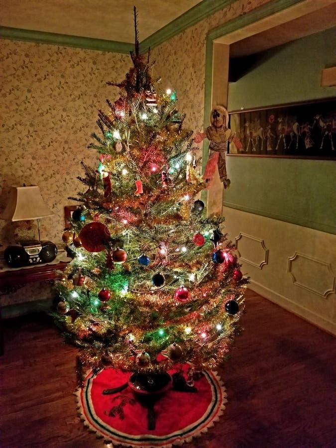 圣诞节家庭结构树 免版税库存图片