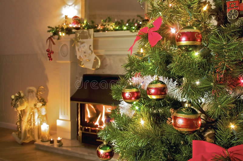 圣诞节家庭结构树 库存图片
