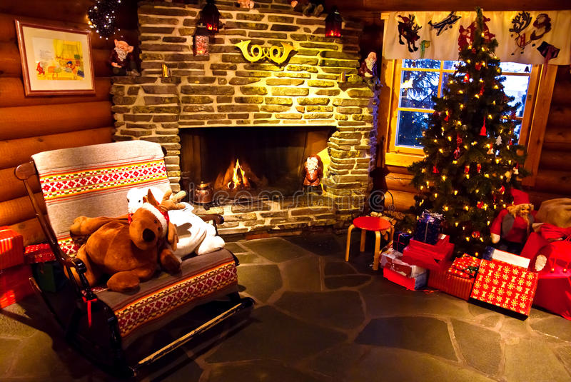 圣诞节家 免版税库存图片