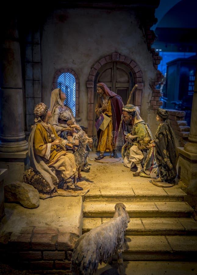 圣诞节小儿床在波尔查诺 免版税库存图片
