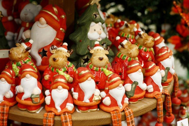 圣诞节小雕象 免版税库存照片