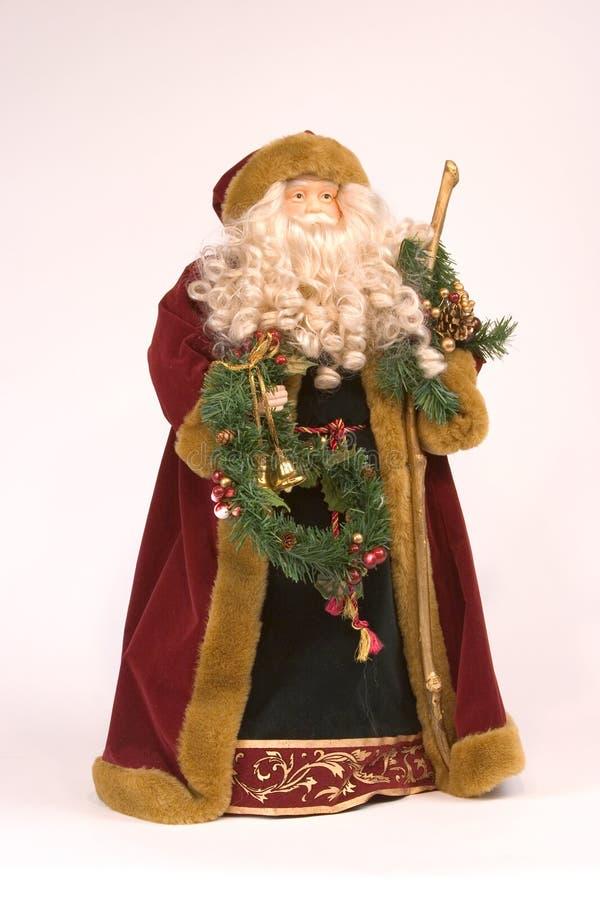 圣诞节尼古拉斯st雕象 库存图片